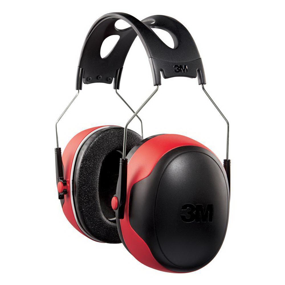 Universal 30 dB Pro-Grade Earmuff 90565-4D Black/Red pair