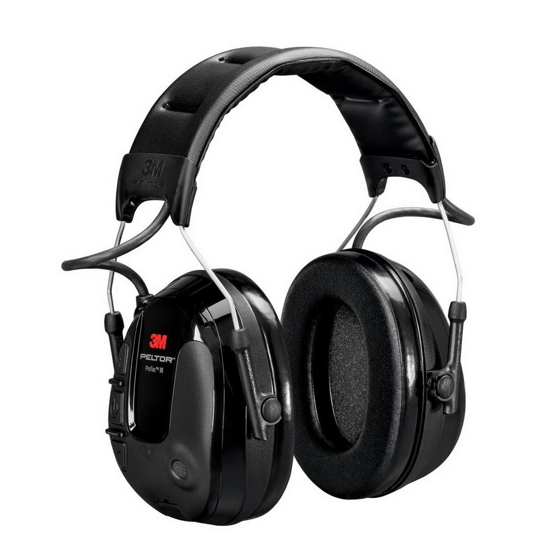 Peltor ProTac III Series Slim Headset Active Headband Earmuff Black UU004637789