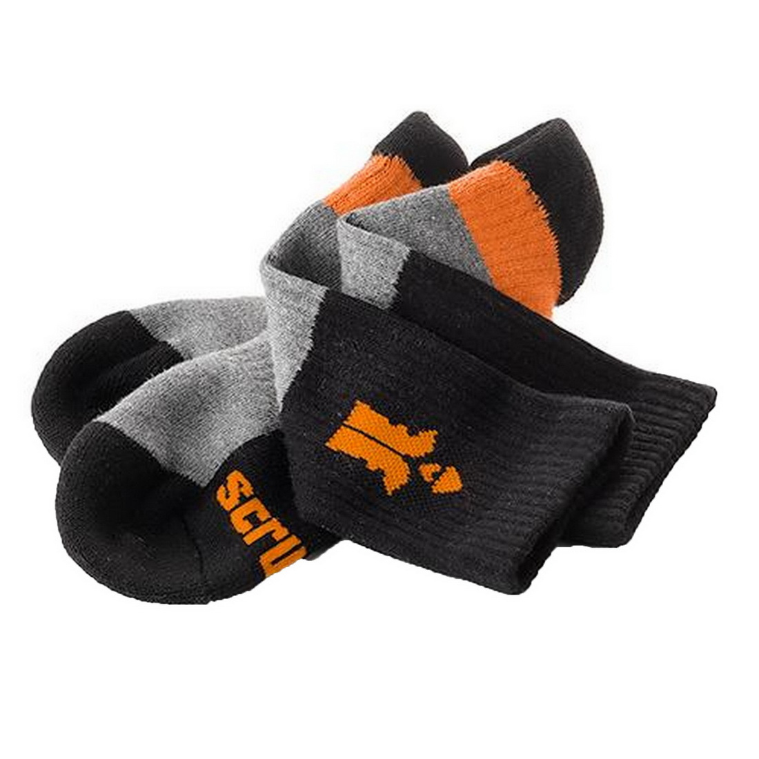 Trade Series Work Socks UK7-9.5 Black/Orange T53547
