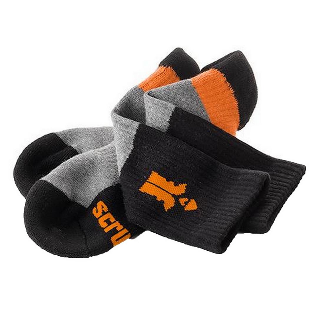 Trade Series Work Socks UK10-13 Black/Orange T53548