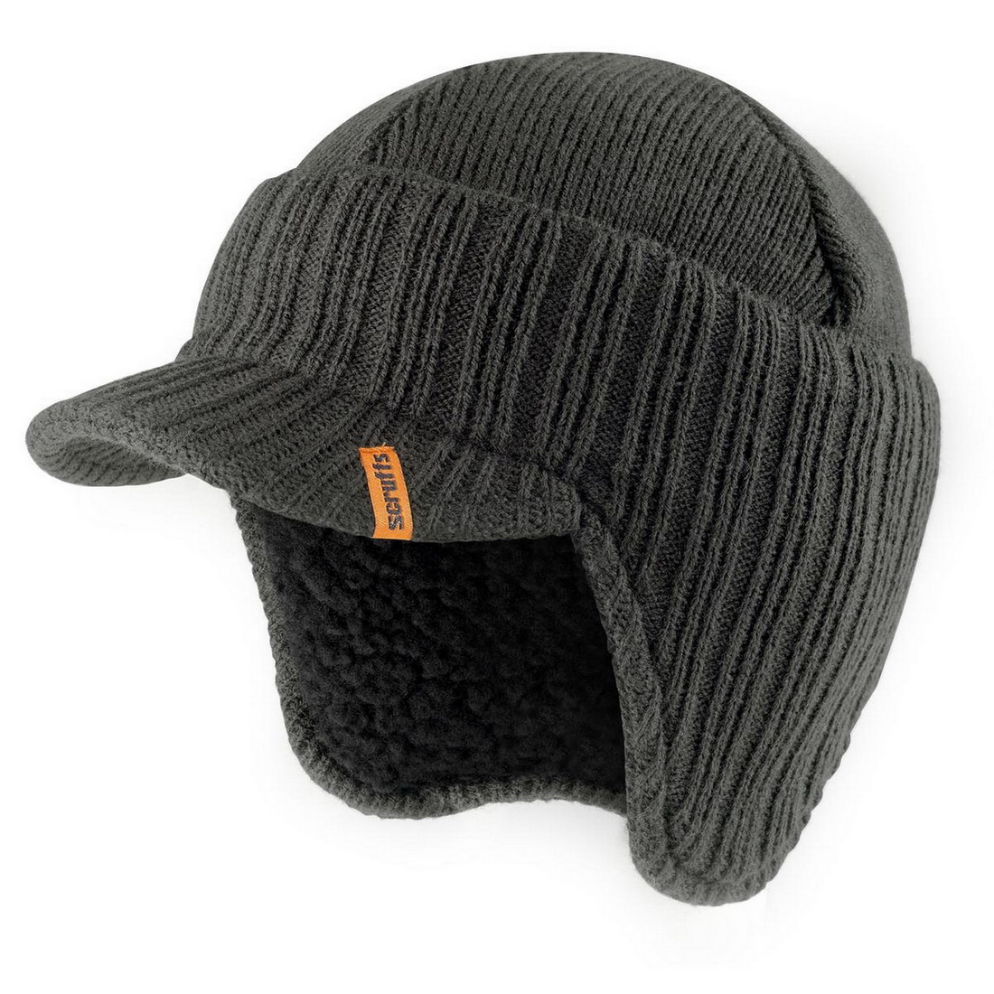 Warm Styled Wool Peaked Beanie Hat One Size Graphite T54305