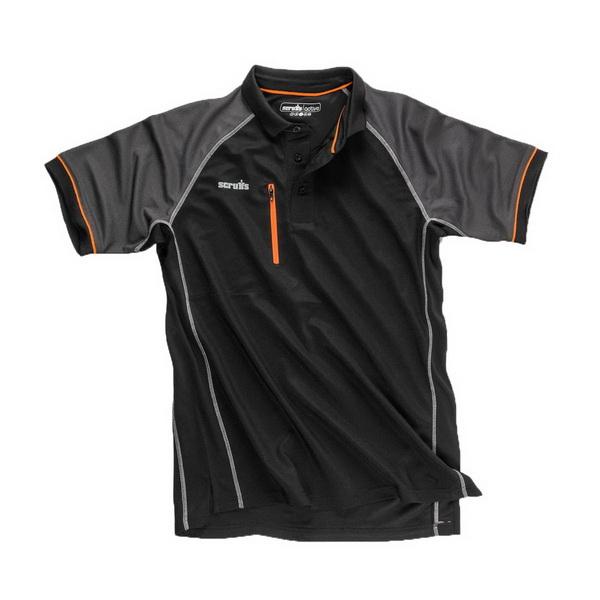 Trade Active Polo Shirt Small Black T54434
