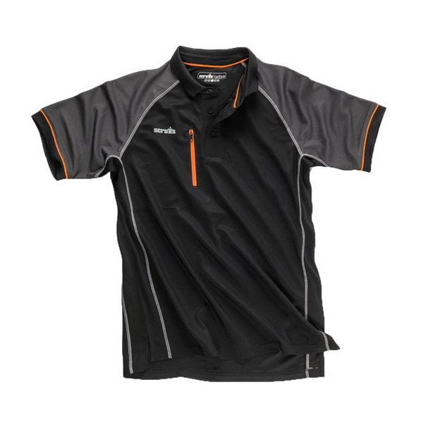 Trade Active Polo Shirt Medium Black T54435