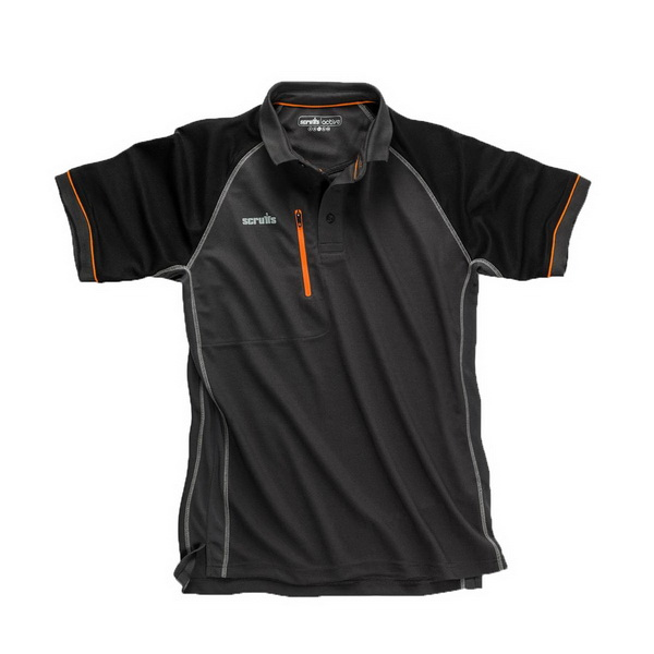 Trade Active Polo Shirt Large Graphite/Black T54441
