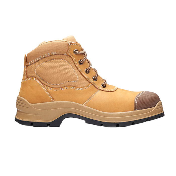 Style 318 Zip Sided Safety Boots Wheat Size 10