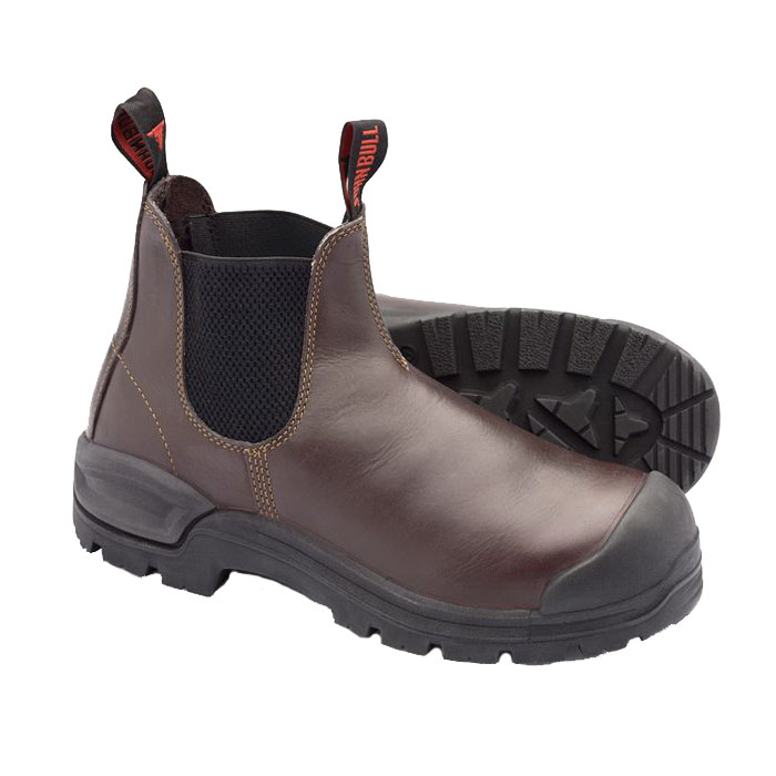 Cougar Rustler Leather Safety Boots Oxblood