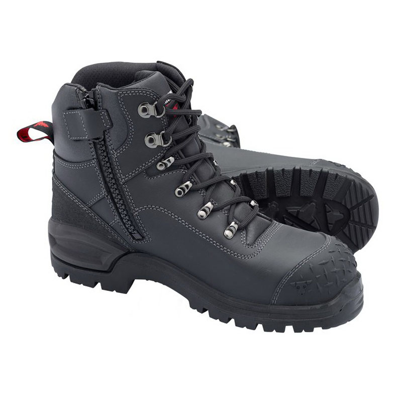 Crow 2.0 Bullhide Leather Safety Boots Size 4