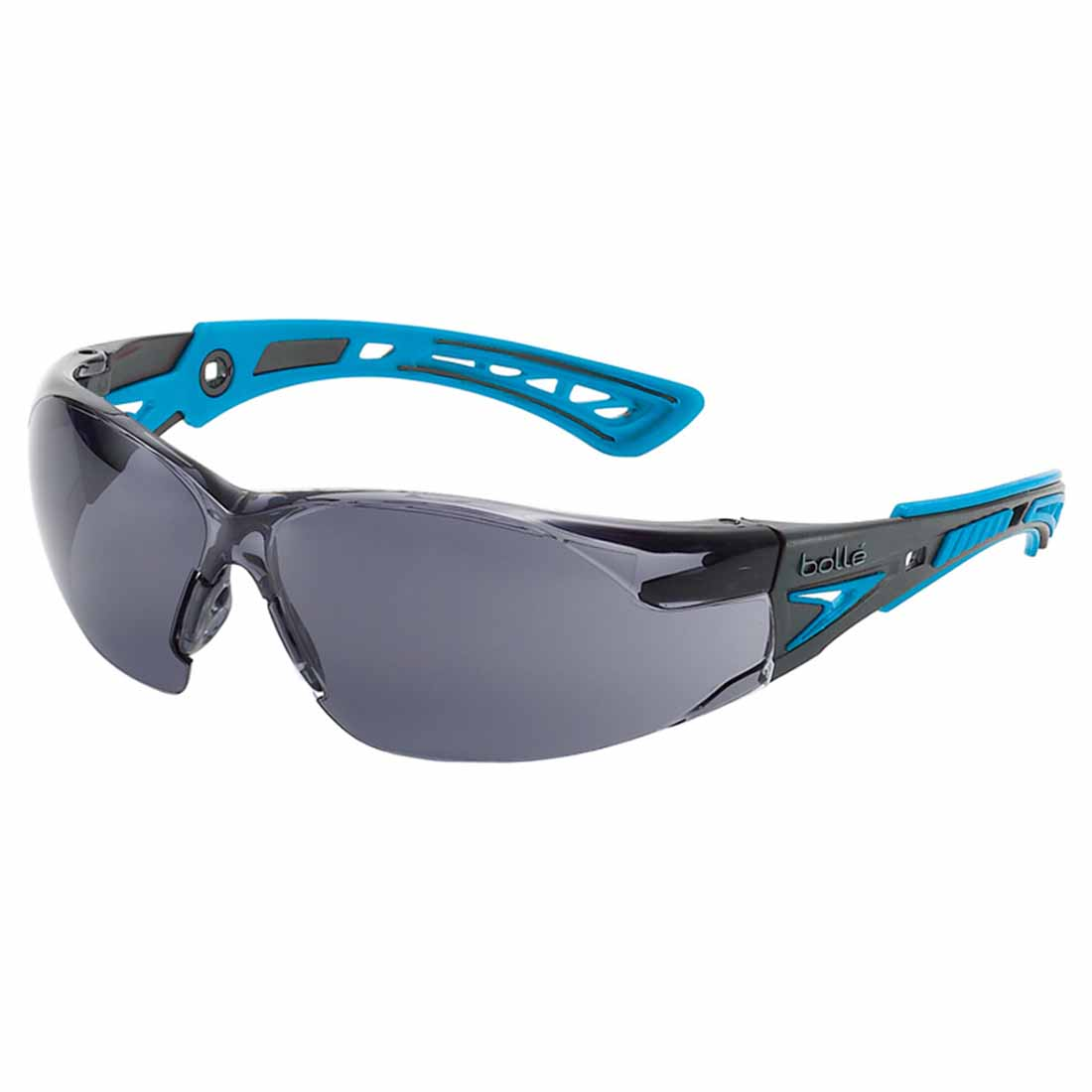 Safety Rush Plus Safety Glasses Smoke Lens Blue/Black Arms