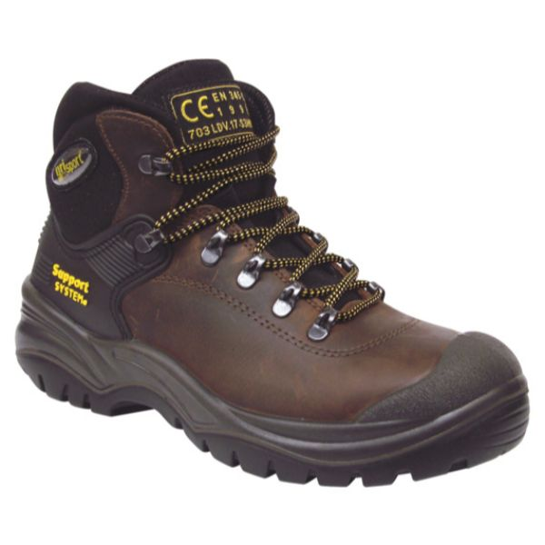 Contractor Safety Boot Size 4 Brown