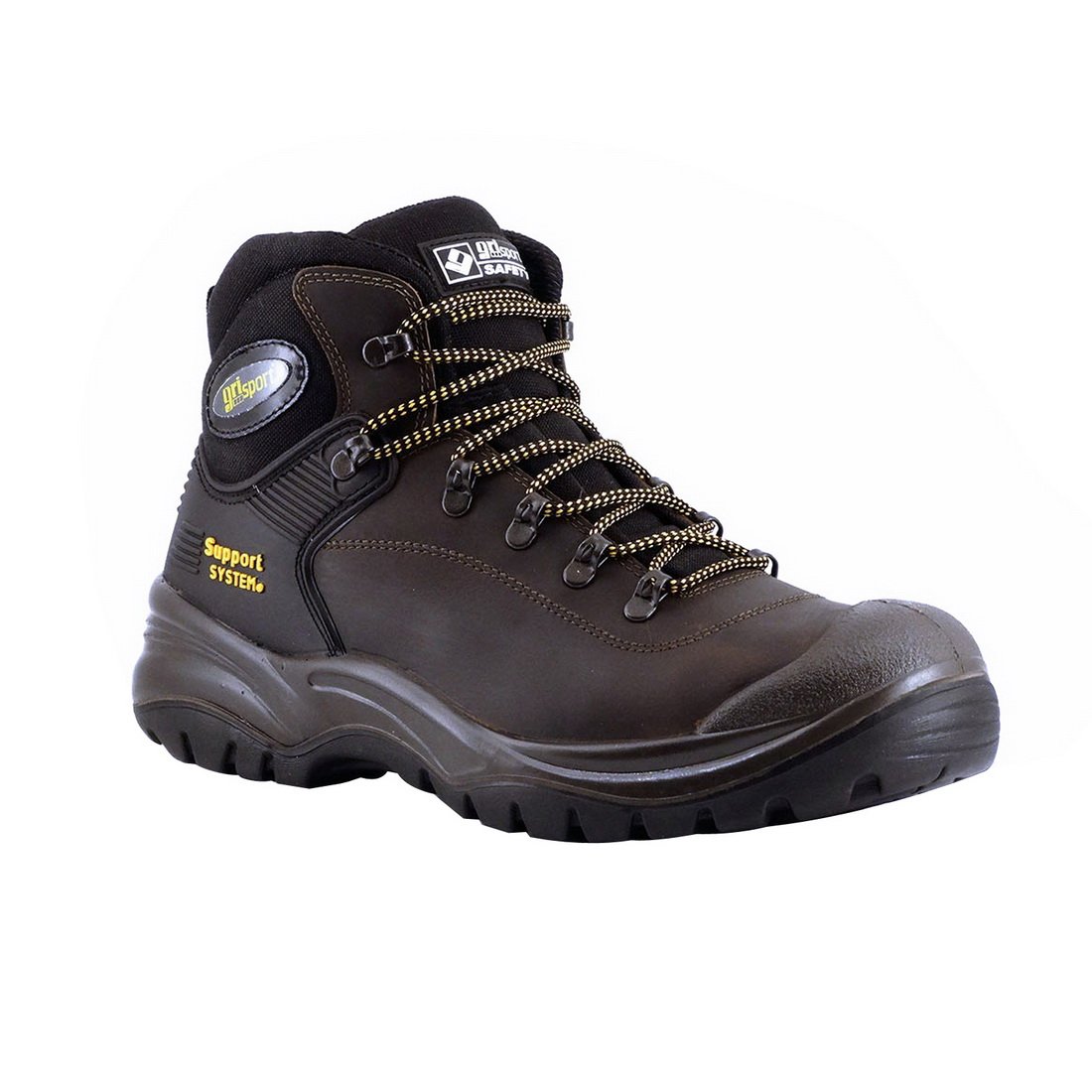 Contractor Safety Boot Size 8 Brown