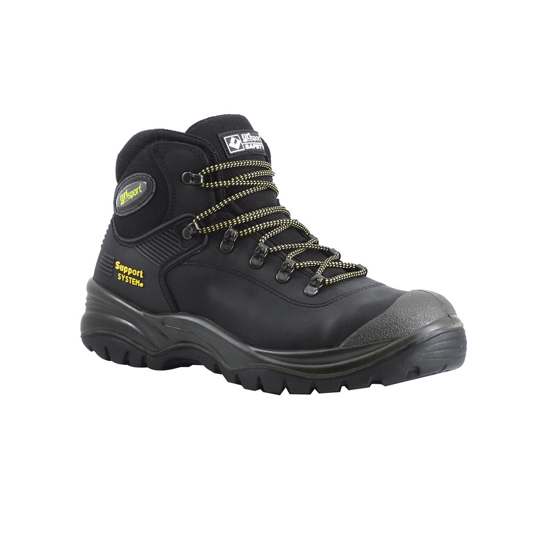 Contractor Safety Boot Size 7 Black Dakar Leather
