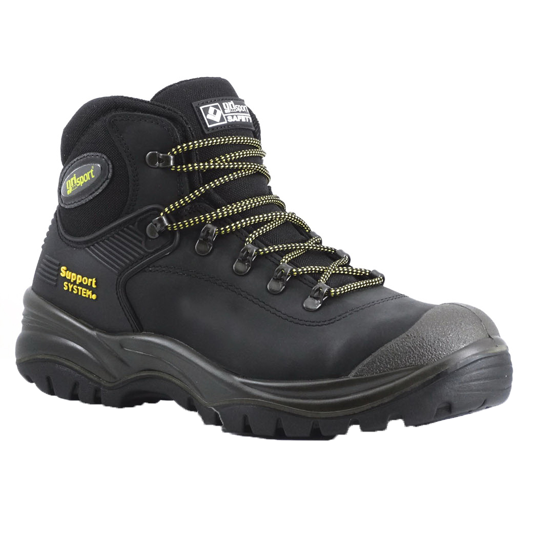 Contractor Safety Boot Size 8 Black Dakar Leather