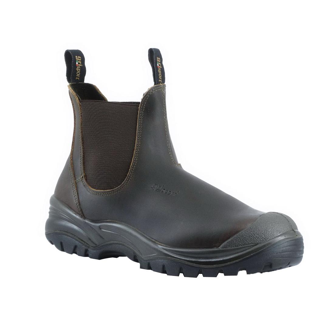 Genoa Safety Slip On Safety Boot Size 12 Brown Dakar Leather