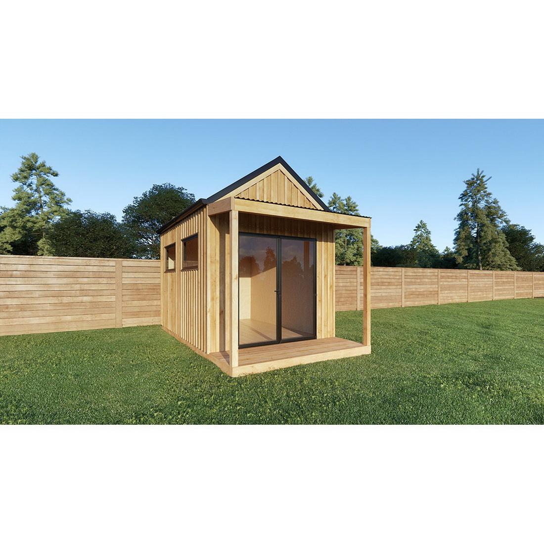 Sanders Weekender Cabin including Mezze with Floor and Bearers Corrugate Roof 10M2