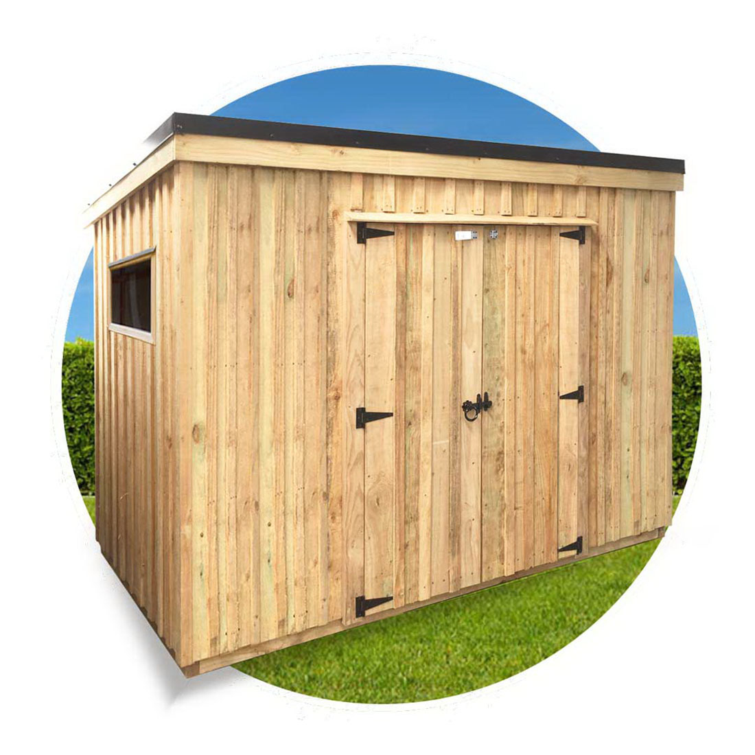 Lean to Shed with Floor and Bearers Corrugate Roof 3.6 x 2.4m
