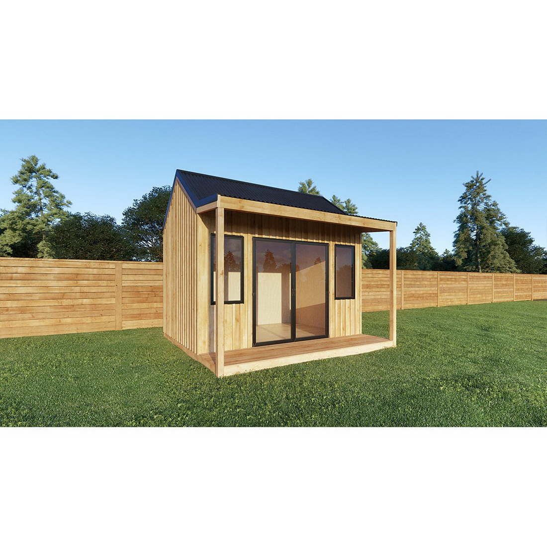Grande Cabana with Floor and Bearers Corrugate Roof 10M2