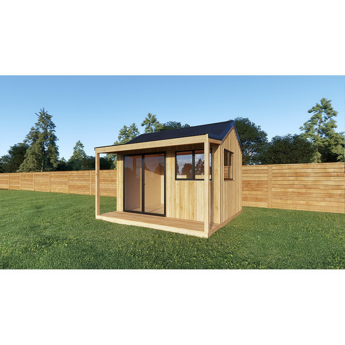 Deluxe Cabana with Floor and Bearers Corrugate Roof 10M2
