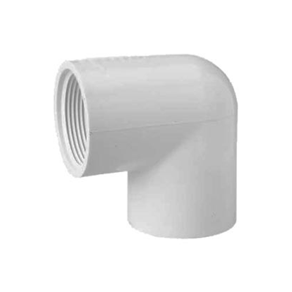 Novakey 808 Series CAT 15 90deg Pressure Faucet Elbow 25mm x 1in Solvent Joint x F BSP PVC-U White