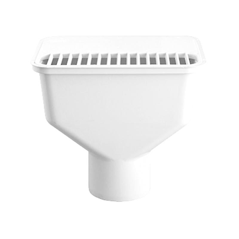 Novadrain 100mm Plain Spigot DWV Complete Gully Dish White