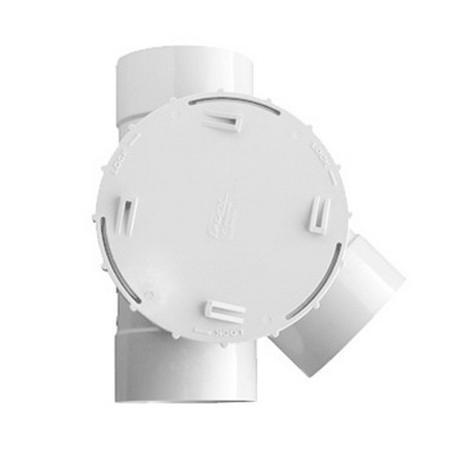 Novadrain 105LH Series 45 deg Side Access Junction 100mm F Solvent Joint PVC-U Light Pearl Grey