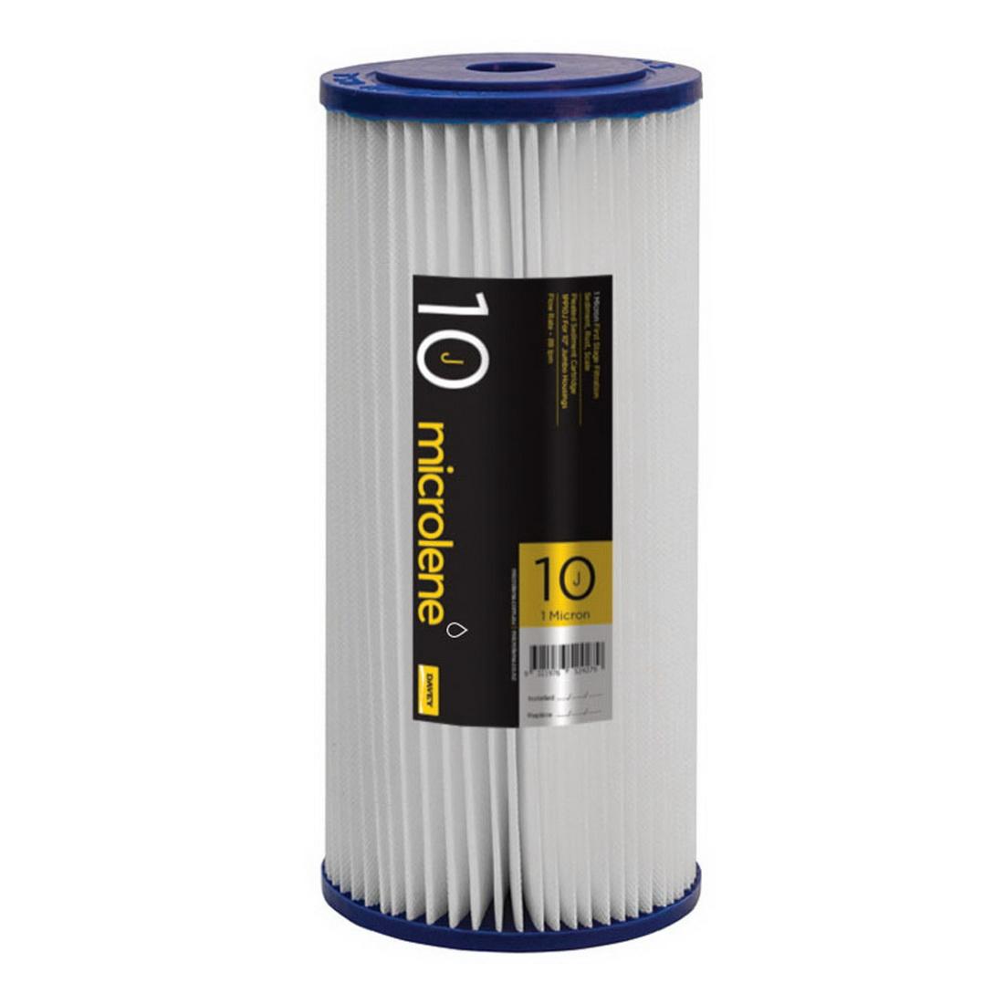 Davey Filterpure Microlene Cartridge 88 l/min 1 micron Pleated Polyester 1PP10J