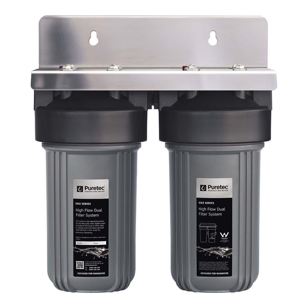 High Flow Whole House Dual Water Filter System 10 Inch 75LPM 1 Inch Connector