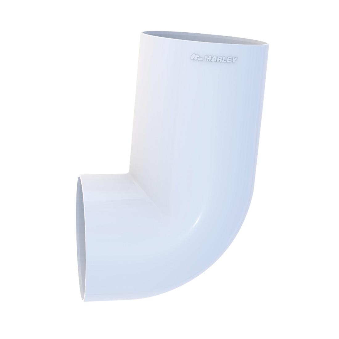 Round Downpipe Socket Bend 65mm 95 Deg White
