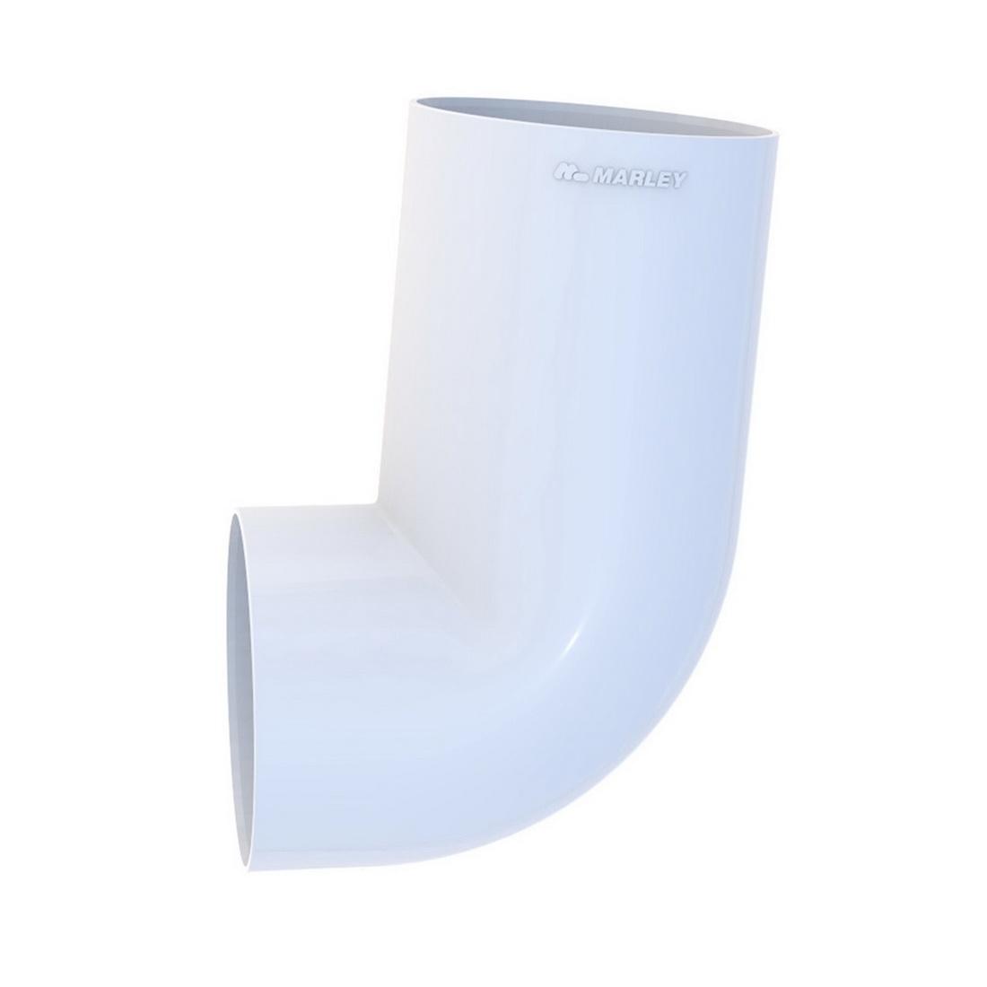 Round Downpipe Socket Bend 80mm 95 Deg White