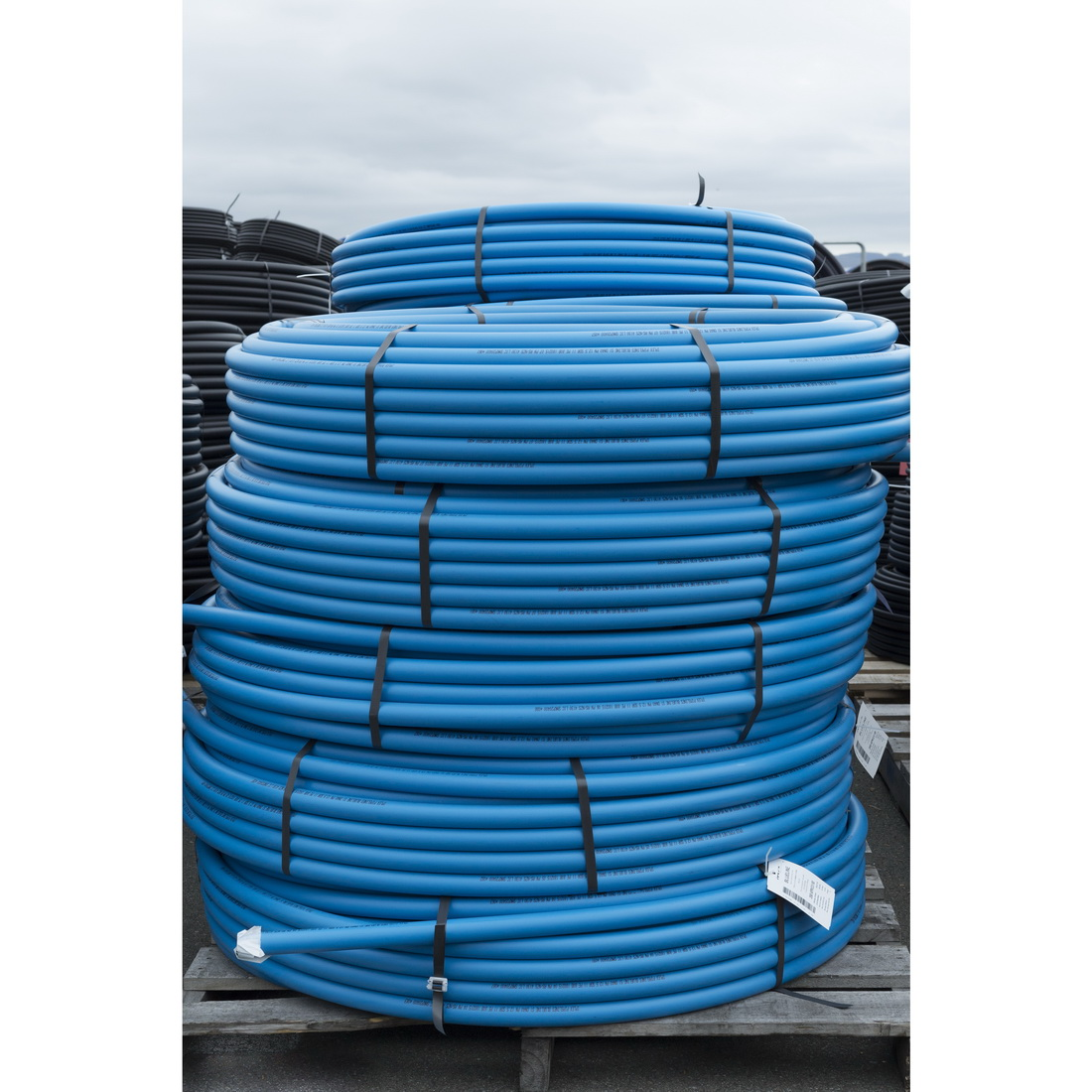 PolBlueline 2500 Series Pressure Pipe 25mm x 100m 12.5 bar Compression PE80 MDPE Light Blue