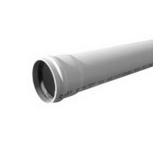 Novadrain 100SN8 Series Solid DWV Pipe 150mm x 6m Z Joint Rubber Ring uPVC Light Grey