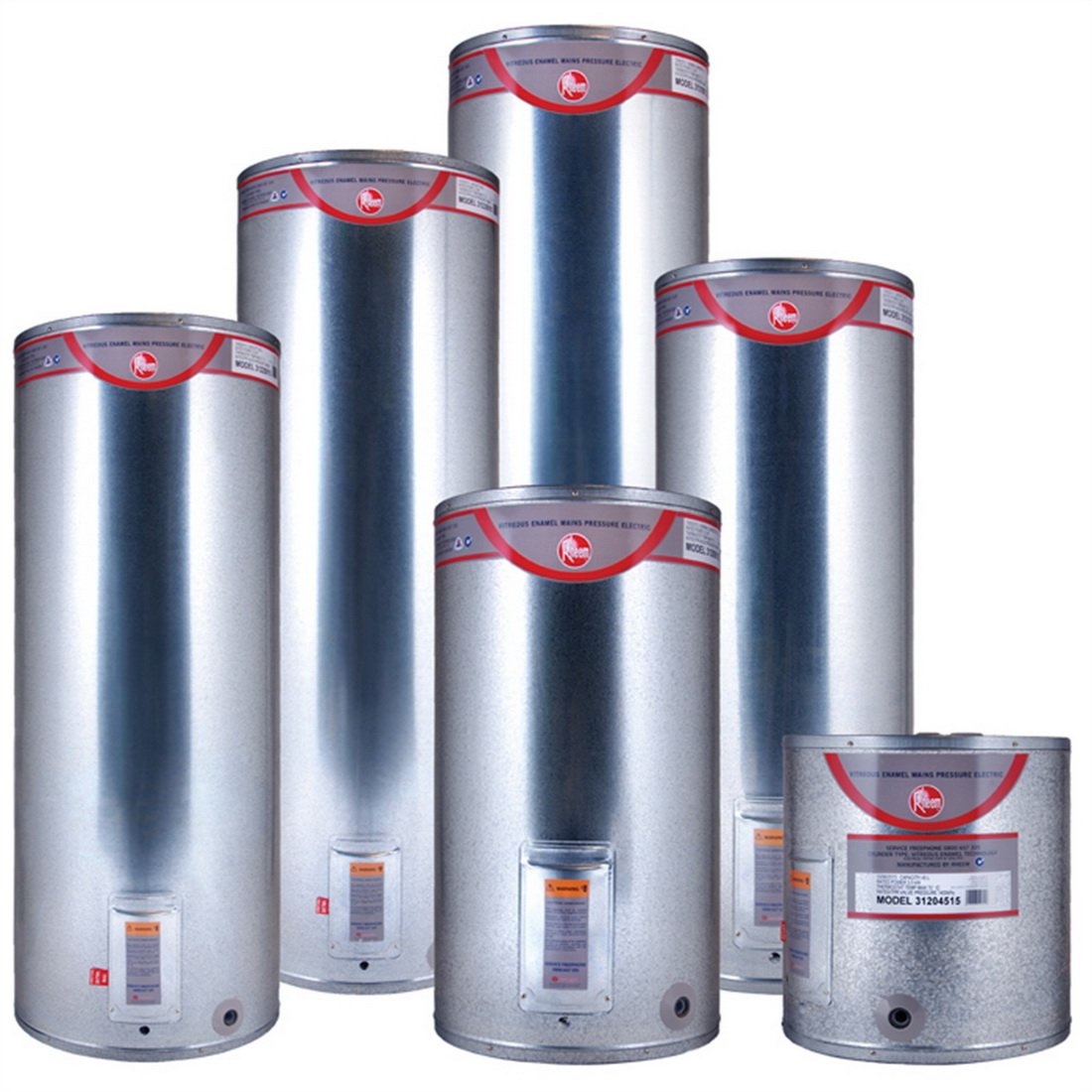 Rheem Mains Pressure Electric Hot Water Cylinder 135L 488 x 1326mm 3kW Vitreous Enamel 31213515