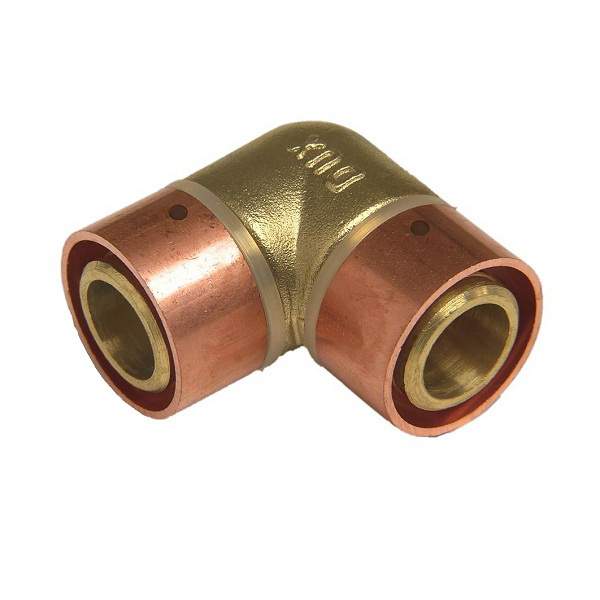 SecuraGold 90 Deg Elbow 20mm Crimp Dr Brass