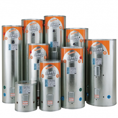 Mains Pressure Standard Hot Water Cylinder 300L 560 x 2045mm 3kW L&R Inlet PreWired Stainless Steel