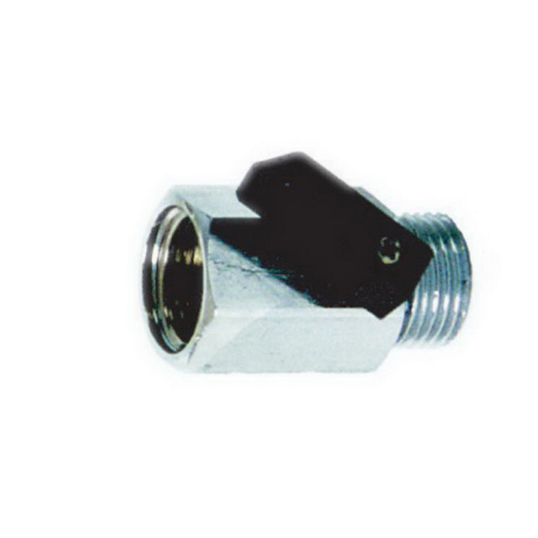 Straight Mini Ball Valve with Handle 15mm M x F 100 kPa Forged Brass Nickel Plated/Chrome Plated