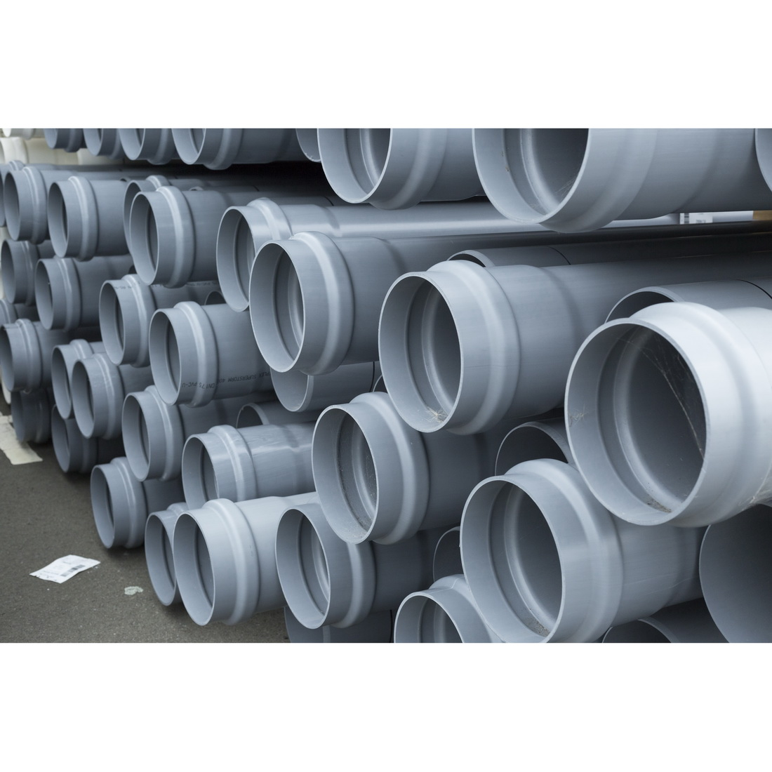 Superstorm 700SN4 Series Stormwater Pipe 90mm x 6m Socketed One End uPVC Grey