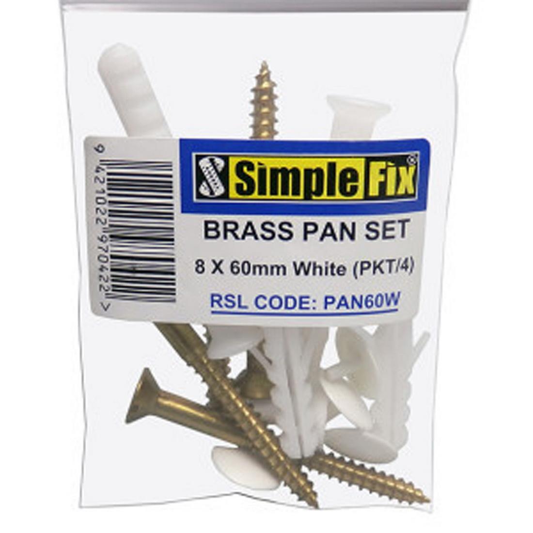 Stainless Pan Set 8 x 60mm