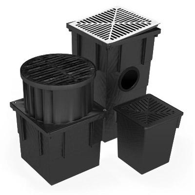 Drainage Pit 12L 250 x 250 x 300mm Plastic Black