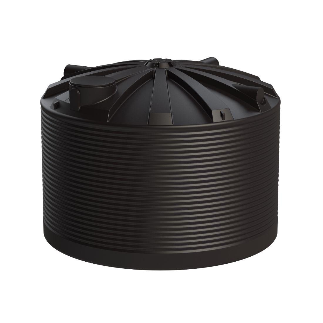 25000L Water Tank Black