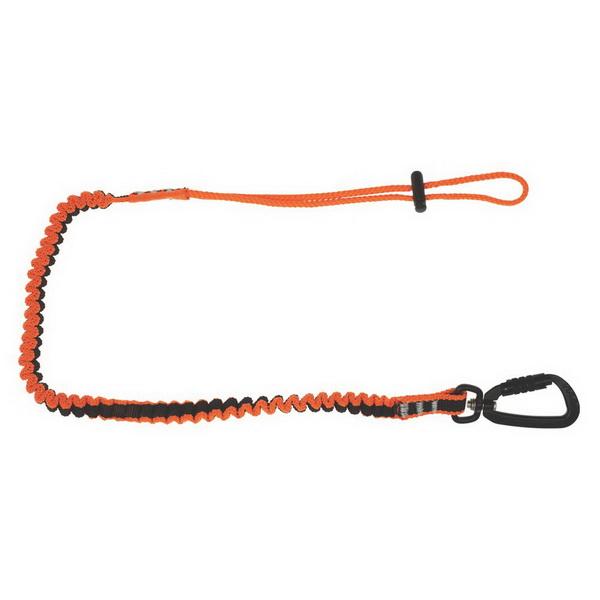 Tool Lanyard with Double Action Karabiner To Loop Tail Hi-Vis Orange