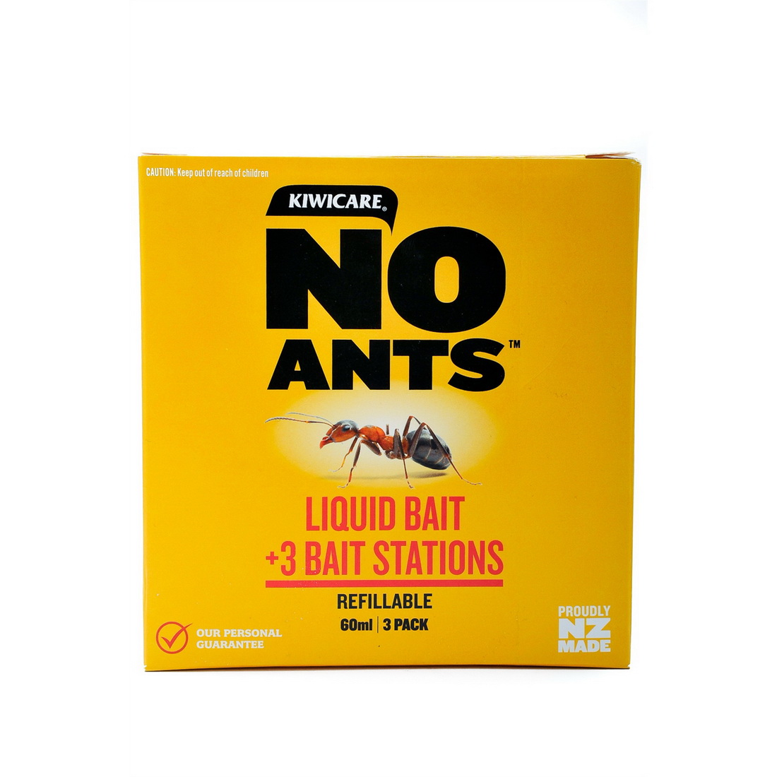 Kiwicare NO Ants Liquid Bait & Station Pest Control 60 mL Red/Brown 30020