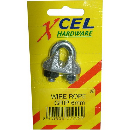 5mm Standard Wire Rope Grip Galvanised