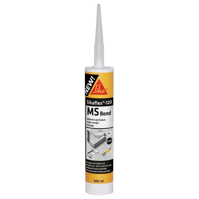 Sikaflex 123 MS Bond Black 300ml Adhesive and Sealant