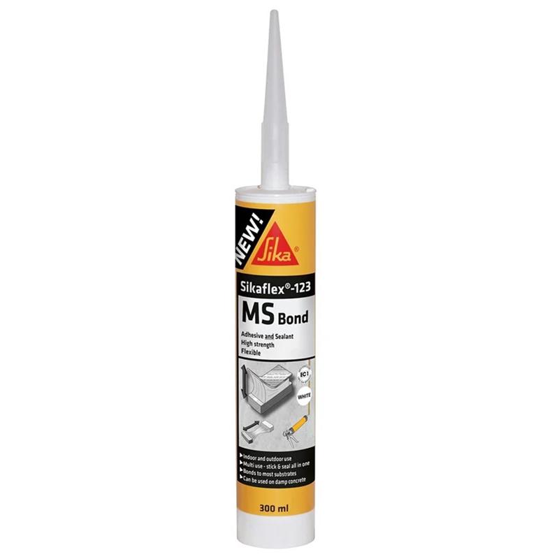 Sikaflex 123 MS Bond White 300ml Adhesive and Sealant