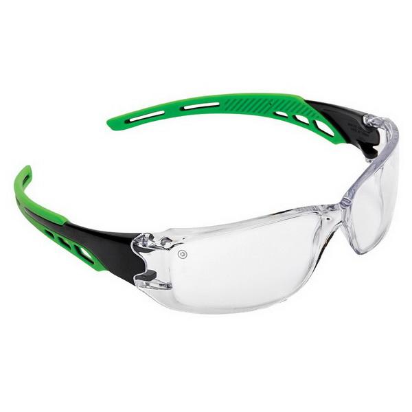 Cirrus Green Arms Safety Glass Clear Anti-Fog, Anti-Scratch Lens