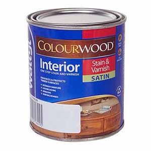 Colourwood 500mL Interior Stain & Varnish Satin Rimu
