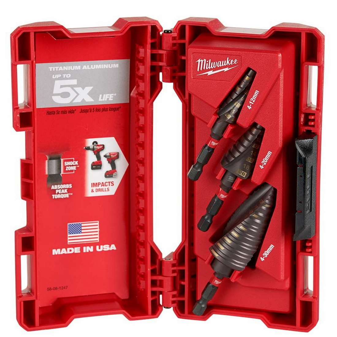 SHOCKWAVE 3 Piece Step Drill Bit Set 48899266