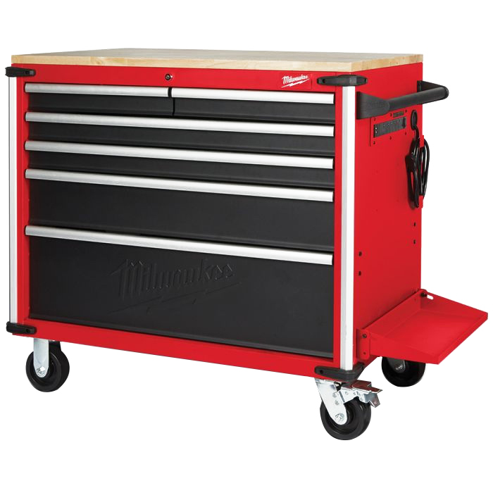 Mobile Work Bench Wood Top 40 inch