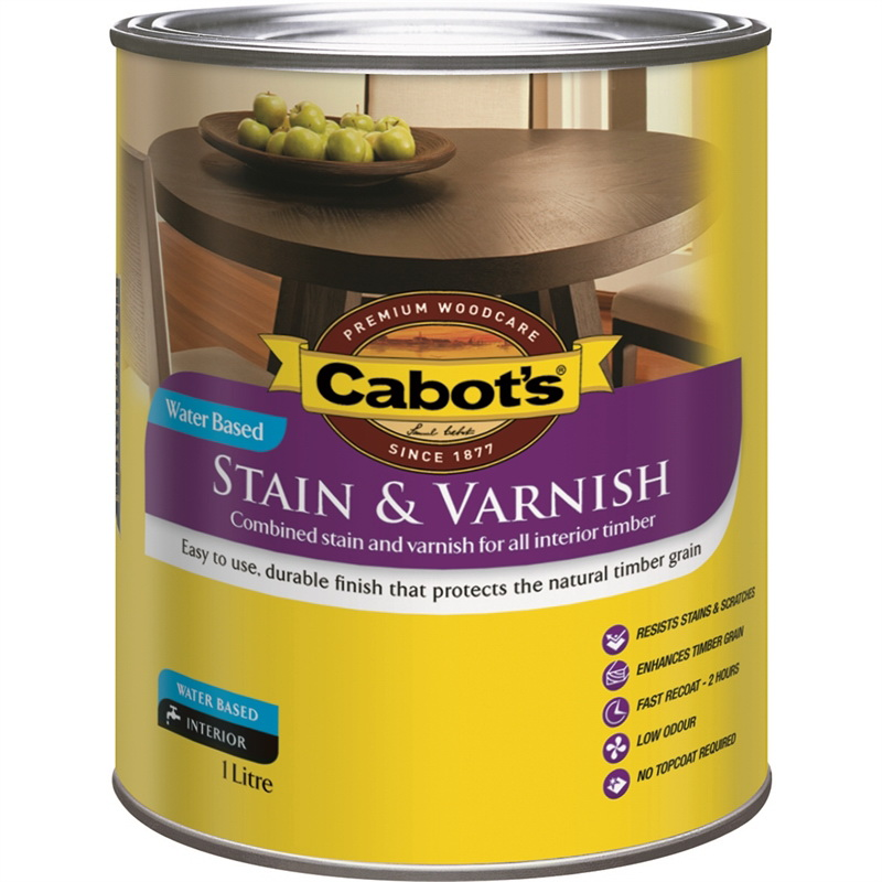 Stain & Varnish Water Based Satin Maple 1L 59682046-1L