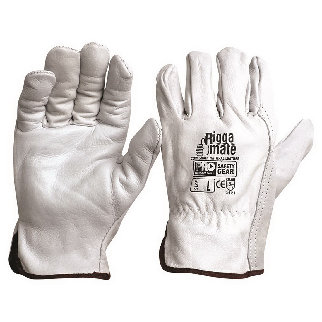 Riggamate Cow Grain Leather Glove Natural