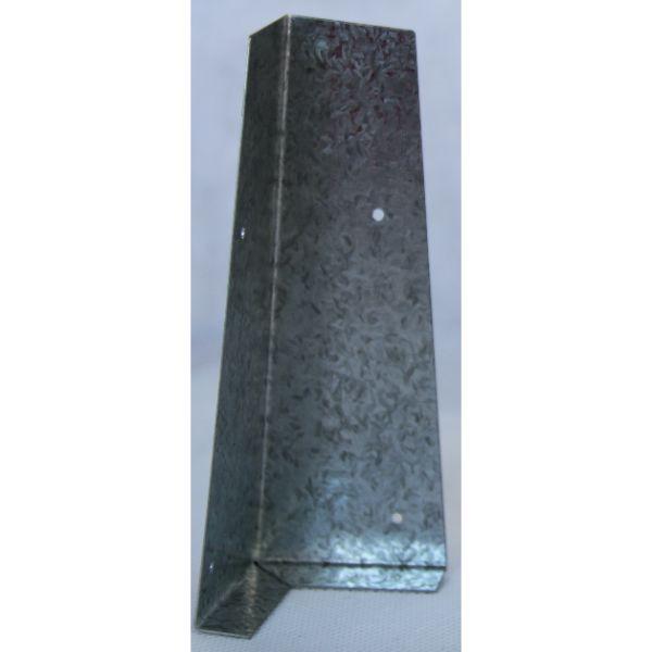 Bevel Back Standard Corner Weatherboard Soaker 200mm Galvanized 0.5 ga